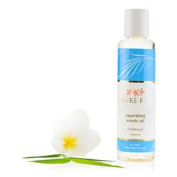 Exotic Bath & Body Oil - Travel Size hydrating, cold pressed coconut oil, coconut milk, organic natural skin care, rapidly hydrate, nourish, protect skin, essential nutrients, vitamins, vitality, softness, repair, soothes, restores,